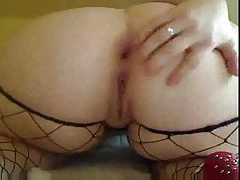 Huge ass on webcam BBW with a toy tubes