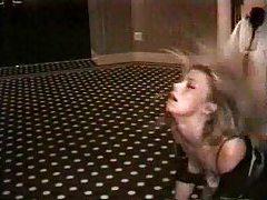 Security guard fucks girl in hotel hallway tubes