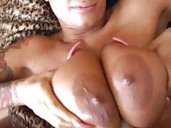 Titjob for girl with tats and piercing tubes