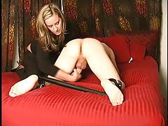 Spread submissive gets handjob tubes