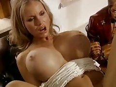 Blonde slut with huge tits riding dick tubes
