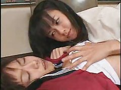 Japanese schoolgirls making out tubes