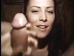 Natural beauty Alisha Klass sucks and strokes tubes