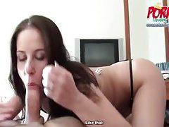 Amateur girl blows him tubes