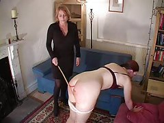Lesbian spanking and a light caning tubes