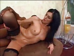 Black dick fucks this amazing brunette milf tubes