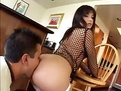 Girl in fishnet top is getting ass fucked tubes