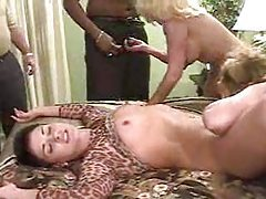 Interracial swinging orgy with matures tubes