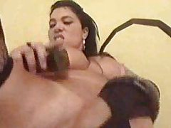 She likes cock in her Latina ass tubes