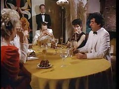Retro porn dinner party and group fuck scene tubes
