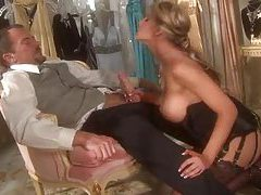 Glamorous girl in great lingerie fucked tubes
