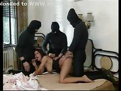 Burglars gangbang the lady of the house tubes
