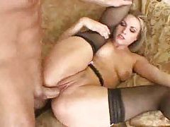 Harmony has cock up her asshole tubes