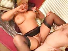 Sweet mature with blonde hair loves cock tubes