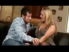 Blonde mom in slutty outfit lets him have her tubes
