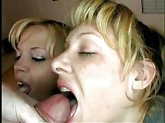 Mom and daughter take turns sucking tubes