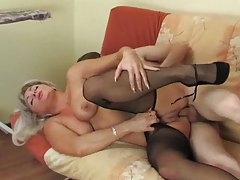 Drilling mom with his stiff cock tubes