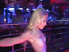 Strippers dancing at a club tubes