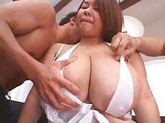 Her huge Japanese tits look good tubes