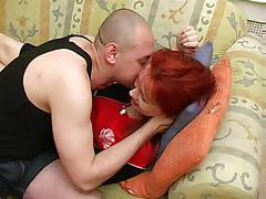 Russian mom is a horny redhead tube