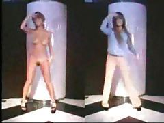 Naked girls dancing in strange video tubes