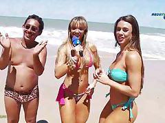 Having fun on the nude beach tubes