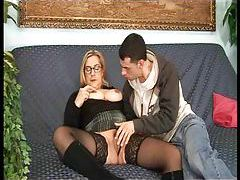 Mature in glasses is chubby and horny tubes