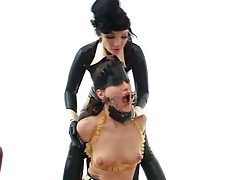 Girls have rubber lesbian fetish sex tubes