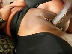 Black chick with nice natural tits railed tubes