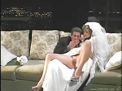 Girl in her wedding dress fucked hard tubes