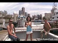 Girl shows fishermen her hot naked body tubes