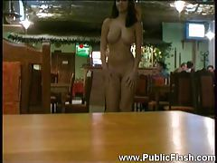Walking around a restaurant totally naked tubes