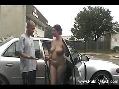Girl in public showing it all tubes
