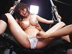 Japanese girl squirts hard when she cums tubes