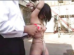 Outdoor bondage with Japanese girl tubes