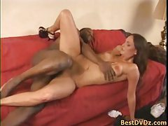 Slim girl gets banged by black cock tubes