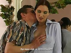 After watching, he decided to act and fucked his young wife tubes