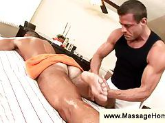 John Marcus gets a massage tubes