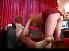 Young blonde fucked by gray-haired guy tubes