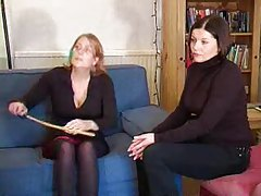 Young girl spanked and caned tubes
