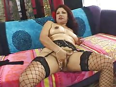 Hairy pussy mature in fishnets fucked hard tubes
