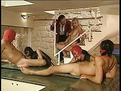 Kinky fisting and oral group scene tubes