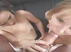 Pretty ladies love to suck on cock tubes