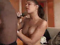 Threesome with her sucking two cocks tubes
