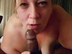 Milf sucking a black guy in POV tubes