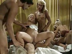 Big orgy party with German girls tubes