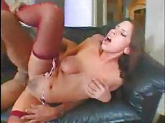Big titty girl is horny for cock and sex tubes