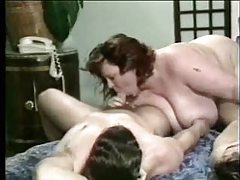 Fat bitch and two dicks playing tube