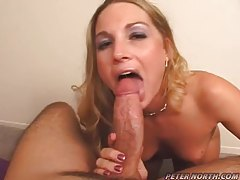 Cum sprays all over her naughty face tubes