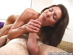 Petite hottie sucks him until cumshot tubes